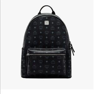 MCM Stark Classic Backpack in Visetos Black